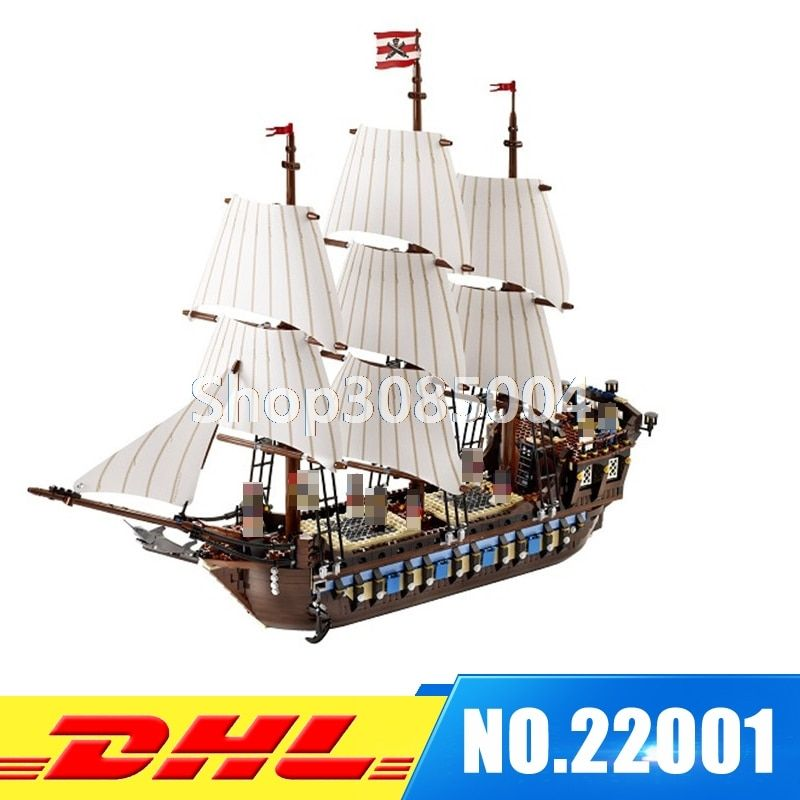 IN STOCK NEW LEPIN 22001 Pirate Ship Imperial warships Model Building Kits Block Briks Toys Gift 1717pcs Compatible 10210