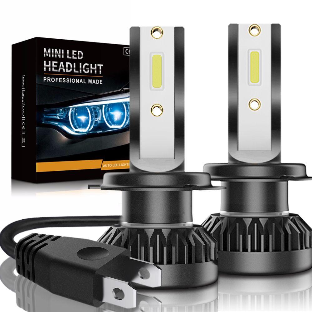 2 pcs phare De Voiture Mini Lampe H7 LED Ampoules H1 LED H7 H8 H11 Projecteurs Kit 9005 HB3 9006 HB4 pour Auto 12 v LED Lampe 60 w 8000LM