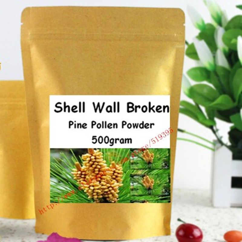 17.6oz (500g) Organic Pine Pollen Powder 99 Percent Broken Cell Wall for Optimal Absorption and Potency
