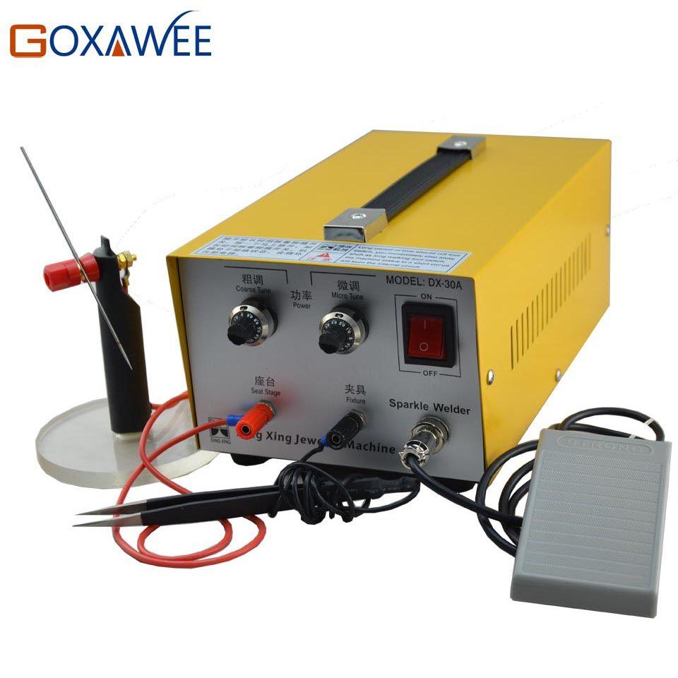 GOXAWEE 220V Spot Welders Electronic Sparkle Welder Jewelry Laser Welder Handheld Mini Laser Spot Welding Machine Jewelry Tools