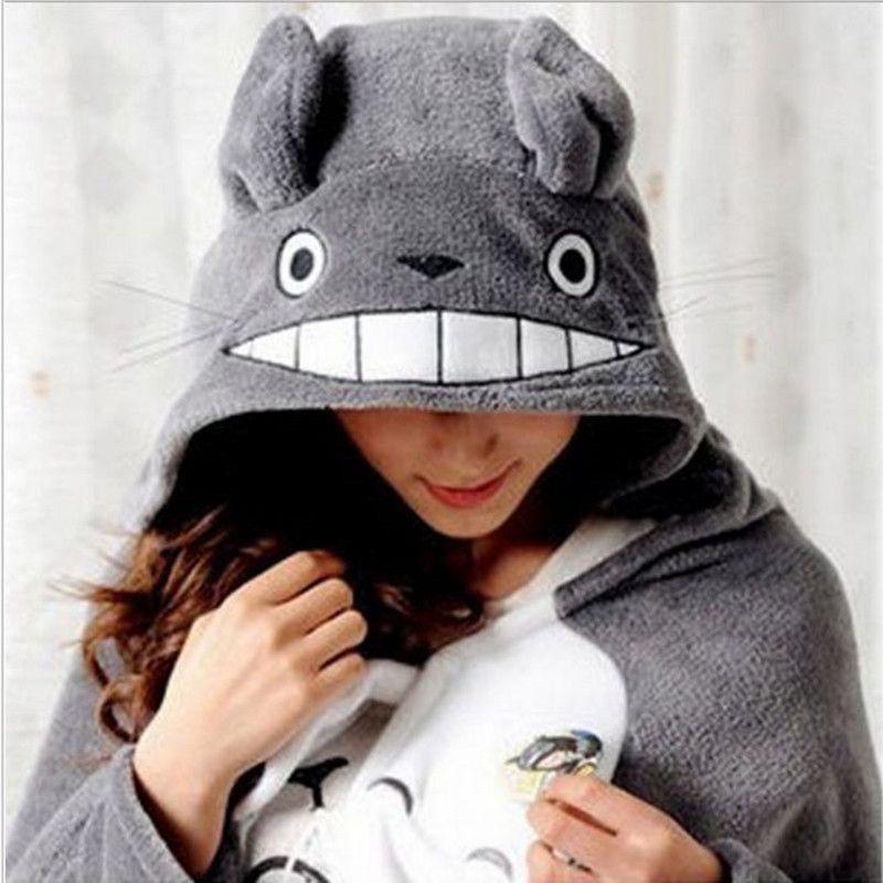 2019 nouveau Cosplay Totoro belle peluche doux Cape Totoro chat dessin animé Cape corail polaire Air couvertures anniversaire Valentine cadeaux