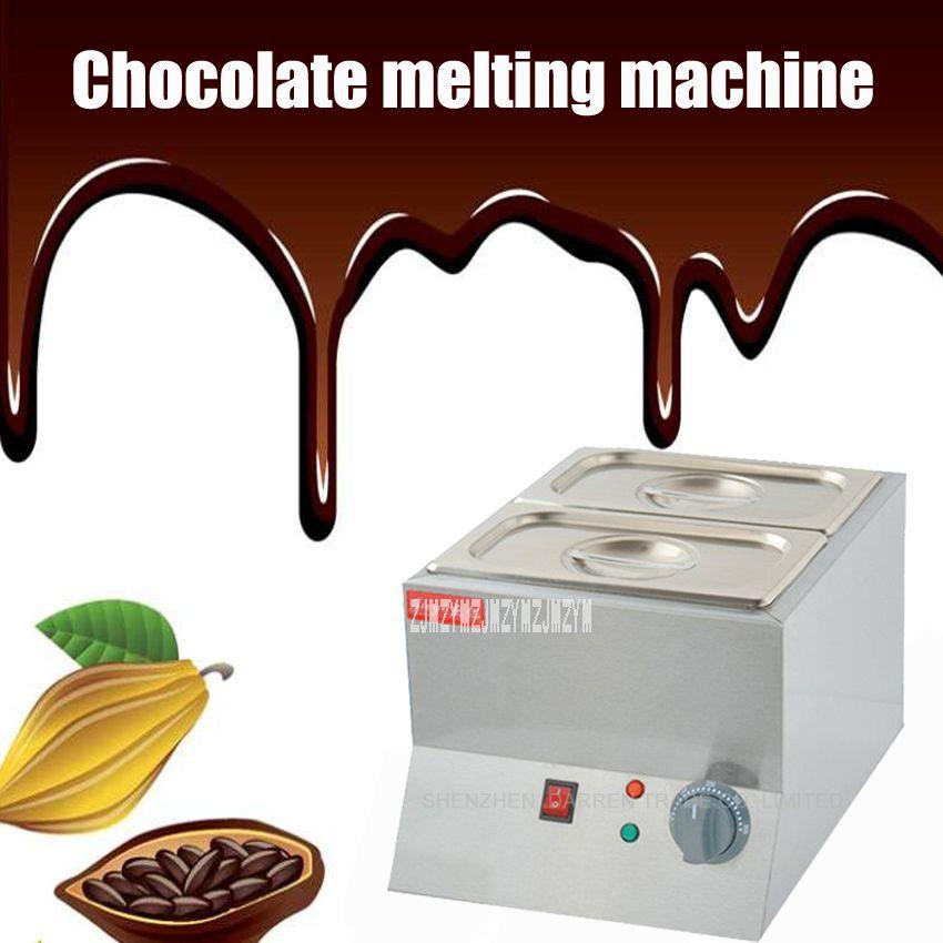 1 stück Doppel Elektrische Schokolade Brunnen Fondue Schokolade Schmelzen Topf schmelz Maschine schokolade schmelzen maschine 220 v 250 watt