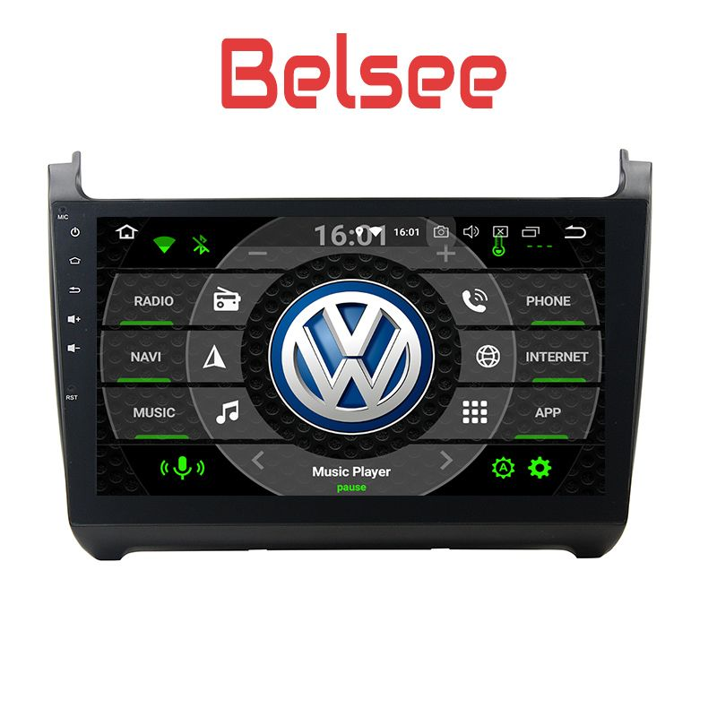 Belsee VW Polo 2012 2013 2014 2015 2016 Android 8.0 Auto Head Unit Car Stereo Radio Octa Core 2 Din 4-32GB Navigation System HD