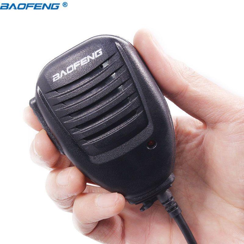 Baofeng UV-5R UV-82 BF-888S PTT Walkie Talkie Speaker Mic Handheld Microphone For Kenwood Pofung UV5R UV82 8W Portable Radio