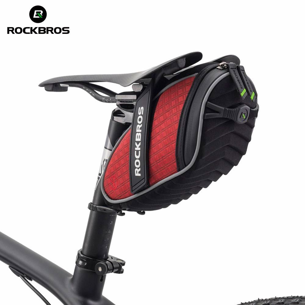 <font><b>ROCKBROS</b></font> Cycling Rear Seatpost Bag 3D Shell Rainproof Saddlebag Reflective Bike Bag Shockproof Bicycle Bag MTB Bike Accessories