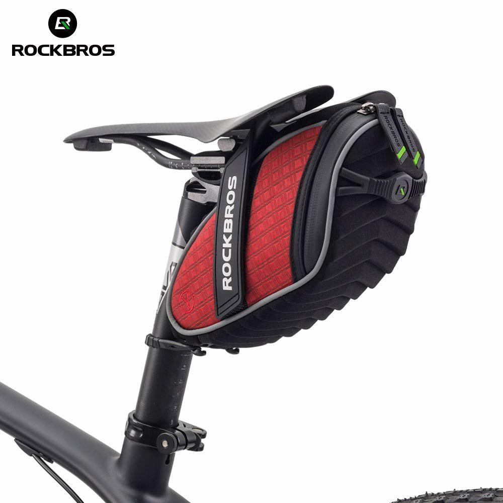 ROCKBROS sac de selle arrière vélo coque 3D étanche à la pluie sac de selle sac de vélo réfléchissant antichoc sac de vélo vtt accessoires de vélo