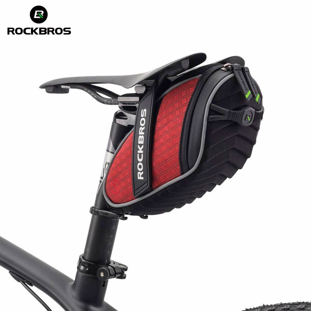 ROCKBROS Cycling Rear Seatpost Bag 3D Shell Rainproof Saddlebag <font><b>Reflective</b></font> Bike Bag Shockproof Bicycle Bag MTB Bike Accessories