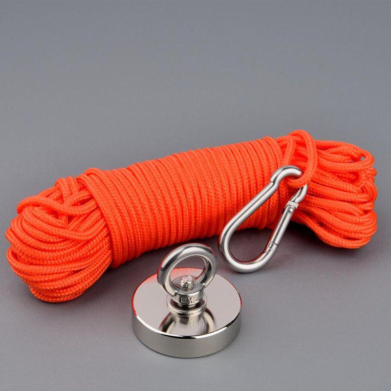 Aimants de pêche d'aimant Permanent de néodyme de l'aimant N52 fort de la conception 150Kg avec la Base matérielle magnétique d'option de corde de 10m
