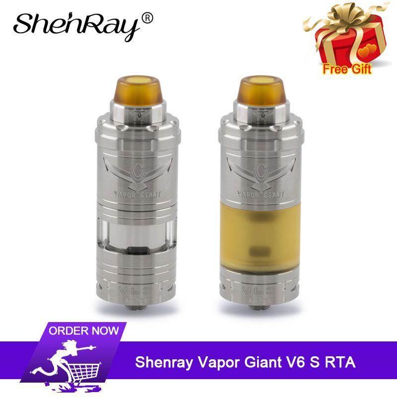 Shenray Dampf Riesen V6S RTA 5,5 ml/7 ml 23mm Single Coil Top Füllung Boden Luftstrom system E -cig Vape Tank Verdampfer