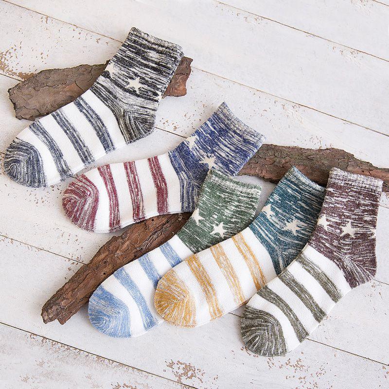 Calcetines de los hombres de largo A76 primavera otoño calcetines de algodón de cuatro estaciones