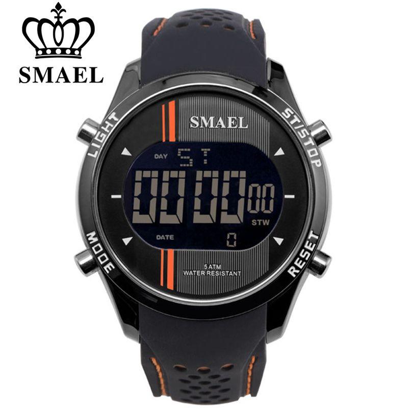 SMAEL LED Digital Watches Man Sports Men's Watch Smart Clocks Leisure Fashion Auto Date Men Electronic Wristwatch Free Shipping