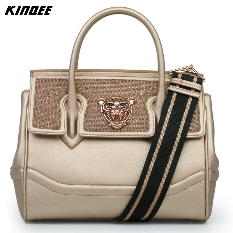 Genuine Leather Handbag Women Cover Luxury Luxury Designer Crossbody Bags Ladies Diamonds Two Straps Totes High Quality Famous