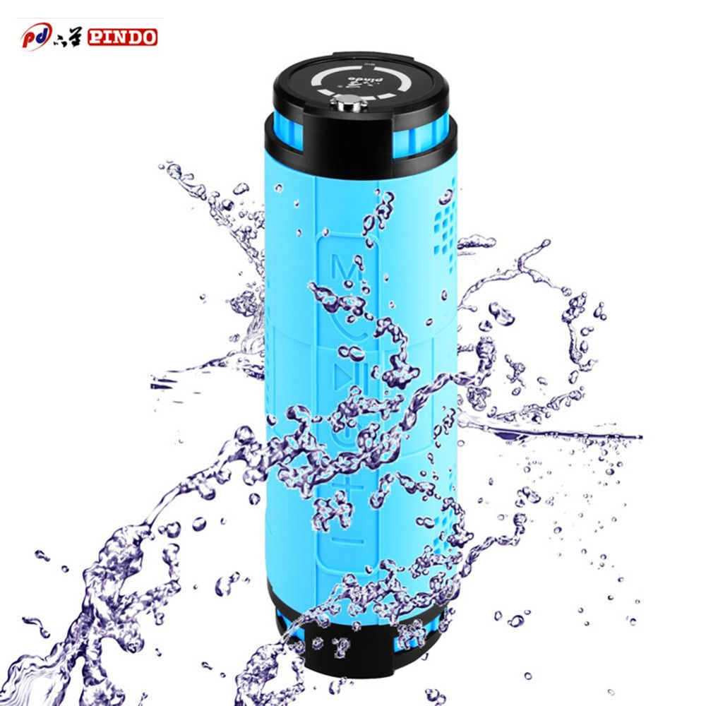 PINDO X18 Silicone Waterproof Wireless Speaker Bluetooth Player 8000mah for Outdoor Car Bike FM Bluetooth Speakers Portable