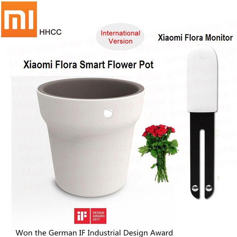 Original Xiaomi Mi Flora Monitor or Flora Smart Flower Pot Digital Plants Grass Flower Care Soil Water Light Smart Tester Sensor