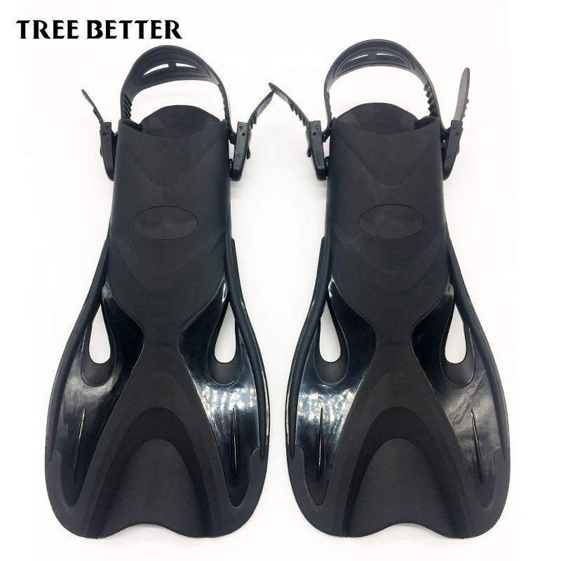 Adjustable Open heels Flipper for Adult Scuba Diving shoes for swimming fins Snorkeling men women Deep dive equipment Training