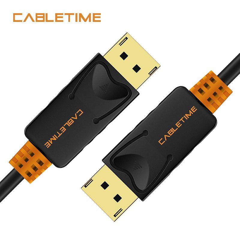 Câble d'affichage de câble mâle à DP 4 k 60 hz DP 1.2 câble 2 M 3 M DP câble d'affichage Audio vidéo pour projecteur HDTV PC N079