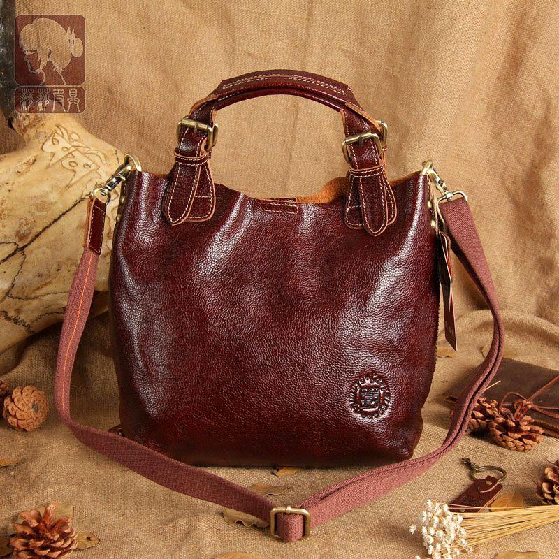 New high quality 100% women genuine leather handbags Cowhide Composite Bag Tote women bucket bag messenger bags
