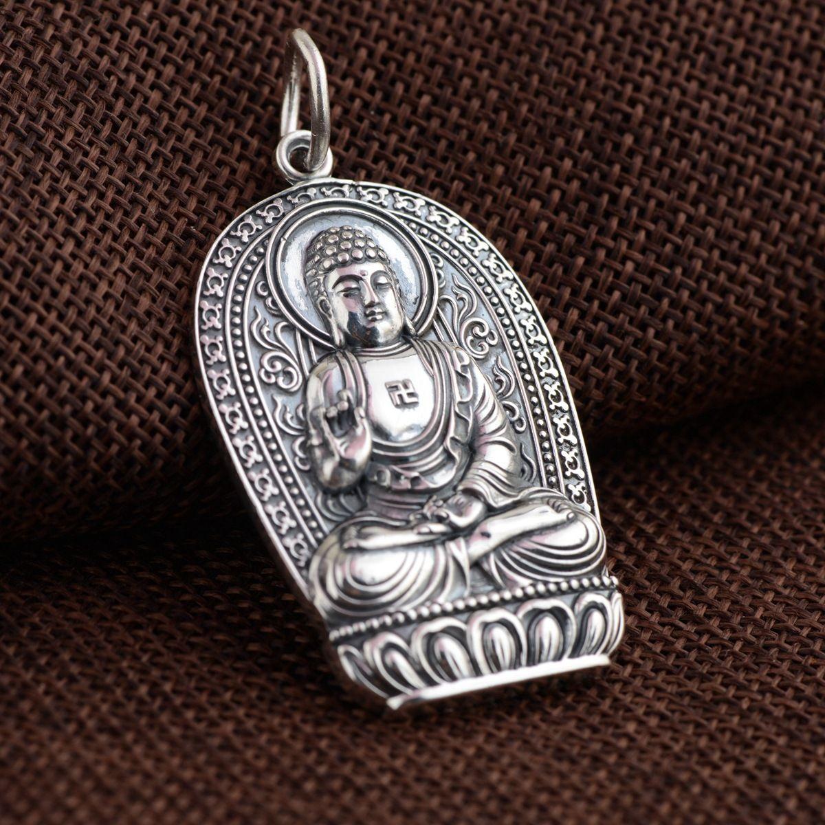 Real 925 silver pendants antique craft the Zodiac the Buddha the patron saint the new guarantee good luck pendants