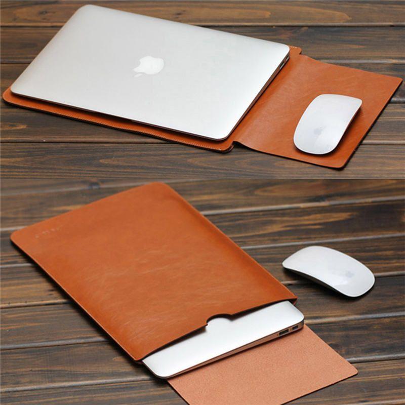 2017 für MacBook Air Pro 11 12 13 15 zoll Laptop Vakuumbeutel PU Ledertasche Sleeve Notebook Ultrabook Tragetasche Fall beutel