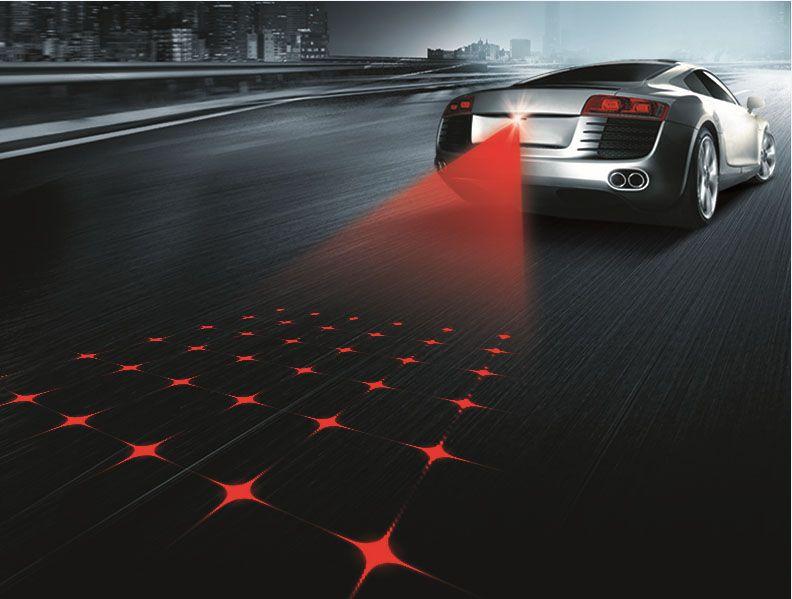 Новый автомобиль Стиль лазерной противотуманных фар хвост проектор стояночный тормоз предупреждать лампа для Hyundai Santa Fe Solaris Соната Terracan ...