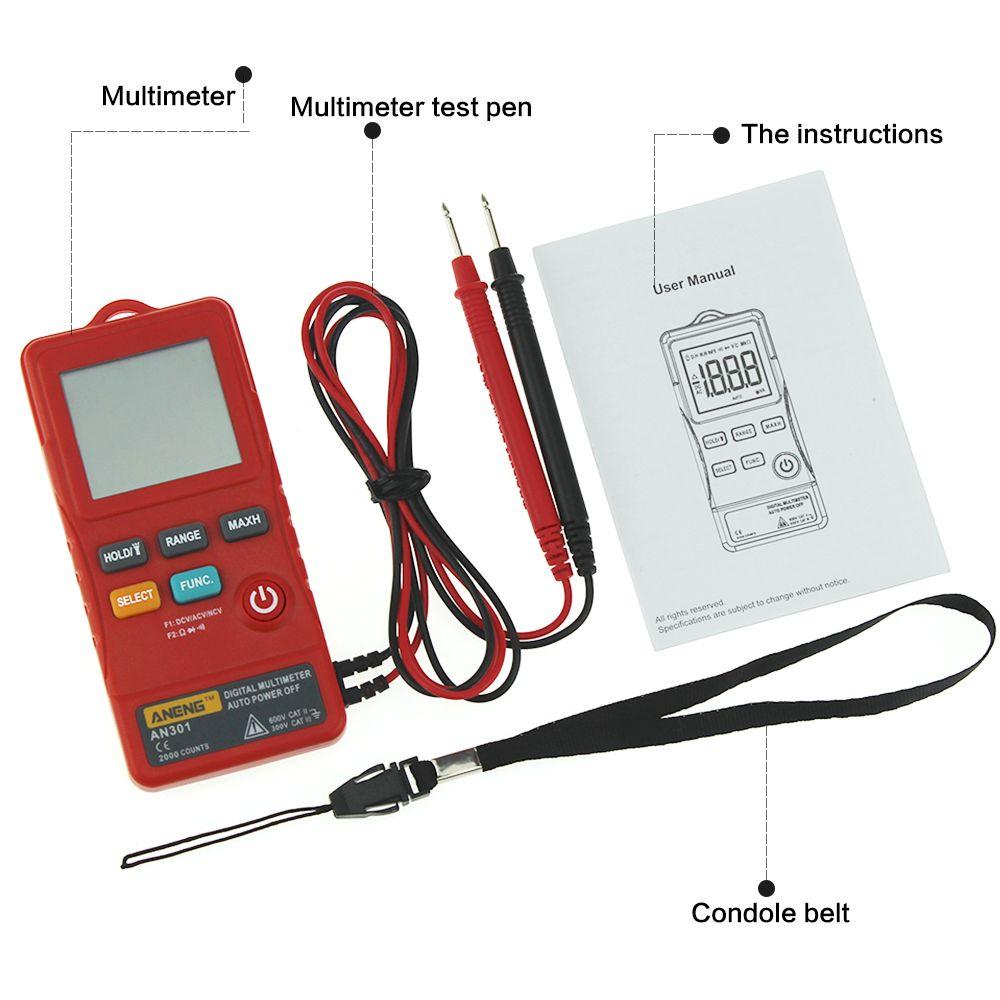 Multi-funktion Taste Typ Multimeter + Tragbaren Strap + Messung Daten Linie Logistik Multimeter Werkzeug