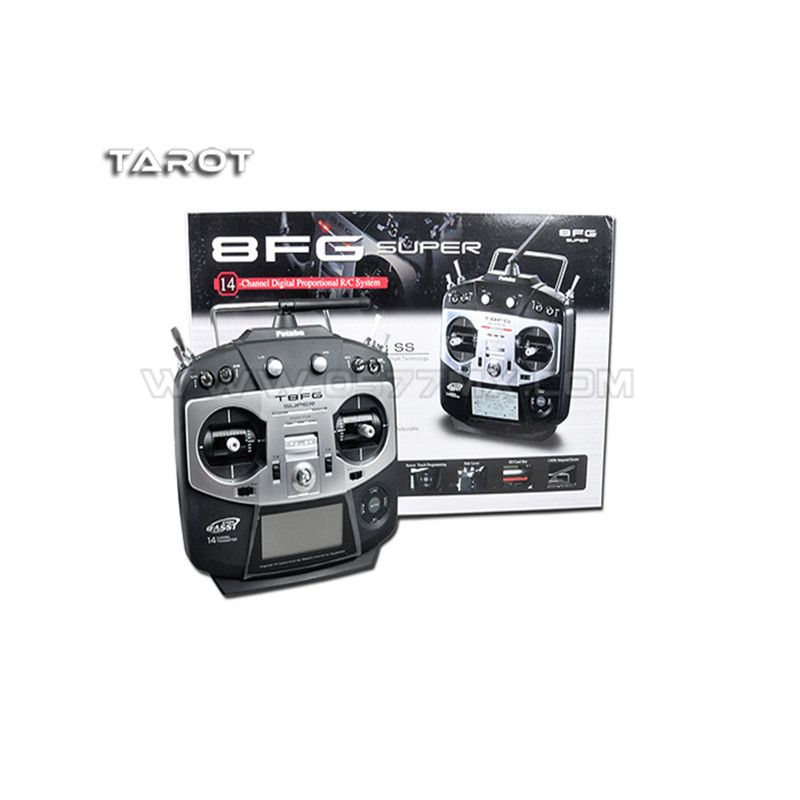 Tatot-Rc Original Futaba 2.4G 14CH T8FG super Transmitter/Remote Control with R6208SB receiver
