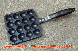 Rumah Tangga Gurita Mesin Bakso Barbekyu Piring Telur Puyuh Perangkat Pemanggang Teflon Coating Mesin Pembuat Bakso 16 Lubang untuk Tungku Gas