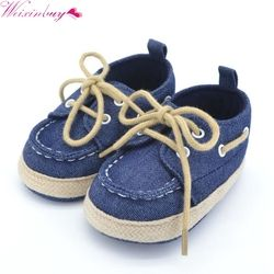 WEIXINBUY Baby Boy Girl Blue Red Sneakers Soft Bottom Crib Shoes Size born to 18 Months