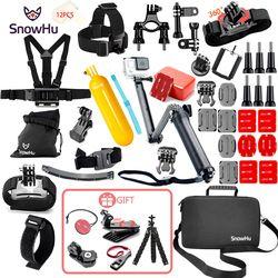 SnowHu für Gopro Zubehör für go pro hero 7 6 5 4 3 kit halterung für SJCAM SJ4000 für xiaomi yi kamera für xiomi stativ GS21