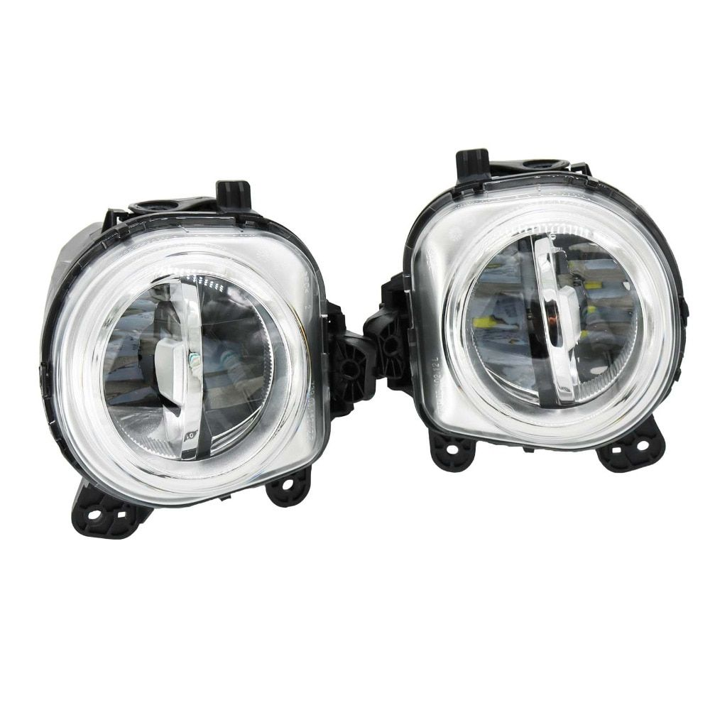 2Pcs For BMW X3 F25 X4 F26 X5 F15 X5 M F85 X6 F16 X6 M F86 Front LED DRL Fog Light Fog Lamp Assembly