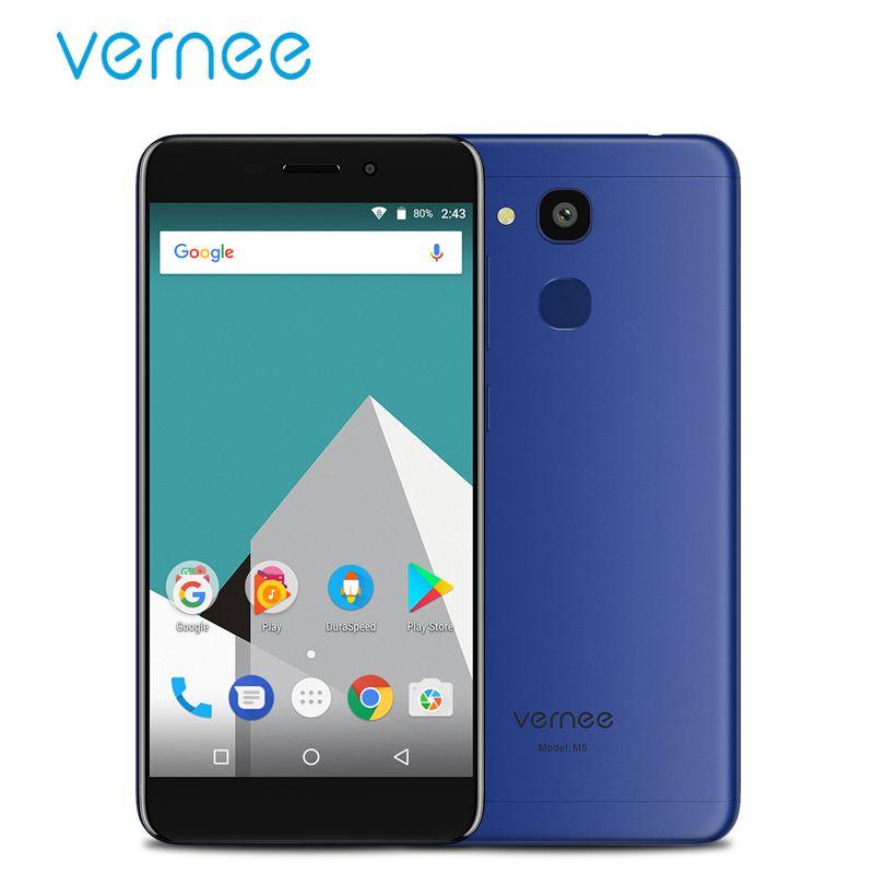 Vernee M5 4G LTE Mobile Phone Android 7.0 5.2 Inch 4GB RAM 32GB ROM MT6750 Octa Core 8MP+13MP Fingerprint Dual Sim Smartphone