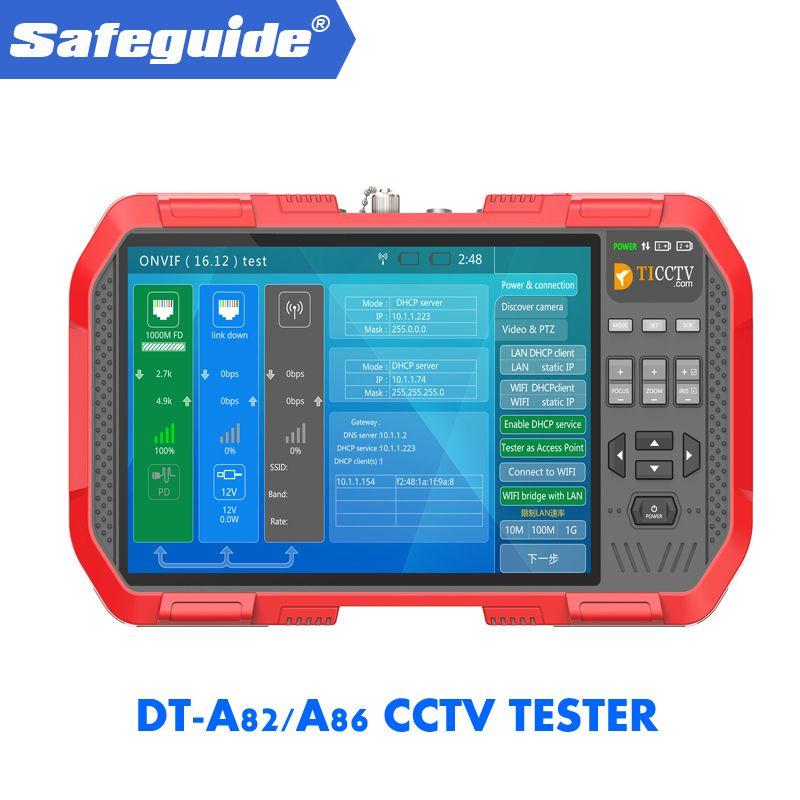 2019 DT-A82/A86 H.265 4 K Netzwerk HD IP TVI CVI AHD CVBS CCTV Kamera Tester Monitor + TDR kabel Test + Multimeter + Laser Power Meter