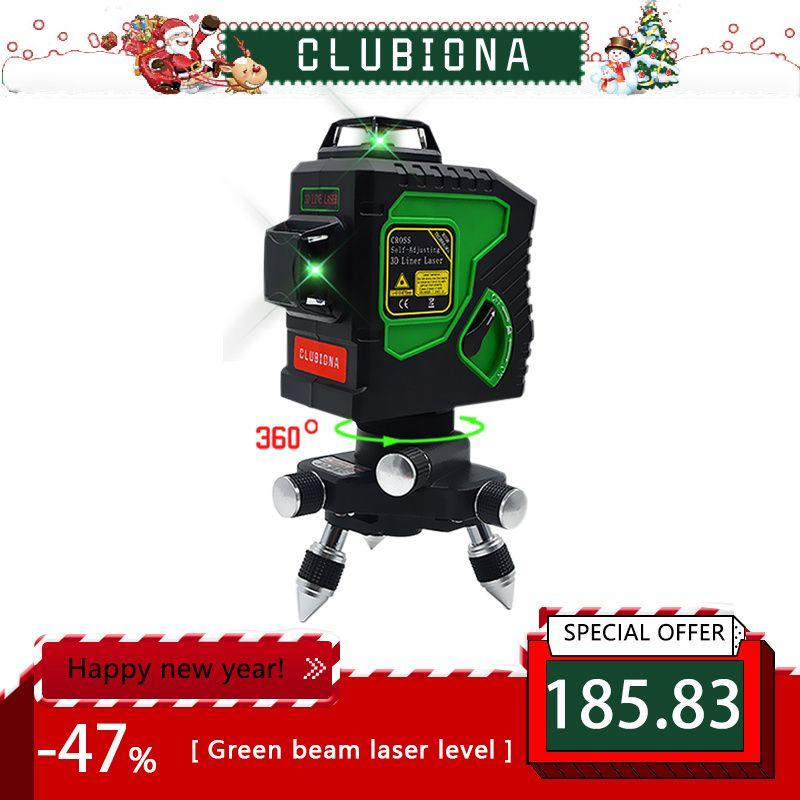 Selbst Nivellierung Professionelle modul Horizontale Und Vertikale Kreuz Super Leistungsstarke grün Laser Strahl Linie 3D 12 linie Laser Ebene 360