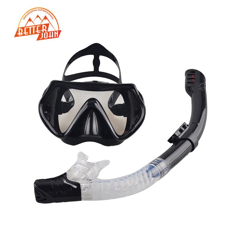 2017 New Professional Scuba Diving Mask Snorkel Anti-Fog Goggles Glasses Set Silicone Swimming Fishing Pool Equipment 6 Color