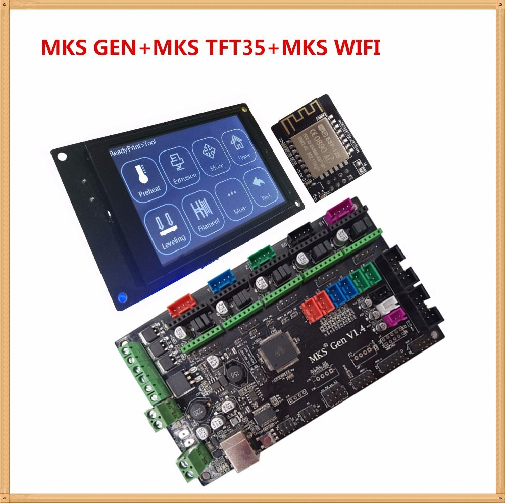 MKS GEN V1.4 control board MKS TFT35 touch screen MKS WIFI module controller suite TFT 35 3D printing unit diy beginer kit