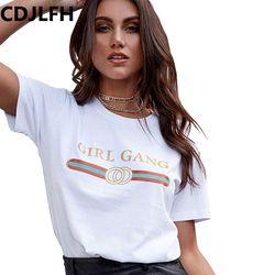 CDJLFH 2017 T-Shirt De Mode Femmes À Manches Courtes D'été Automne T-shirt femelle Rétro Tops T-dame T-shirt Femme Sexy T-shirts blanc