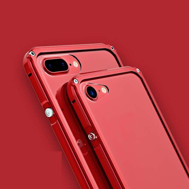 Brand Original BOBYT Luxury Aluminum Metal + Transparent Steel Film Back Cover For iphone 7 7plus 6 6s 6splus Phone Case JS0539