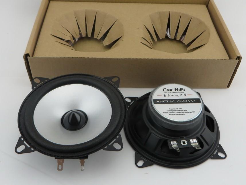 1pair 4-inch silver single core automobile automotive car speakers,car HIFI full range speaker car speakers