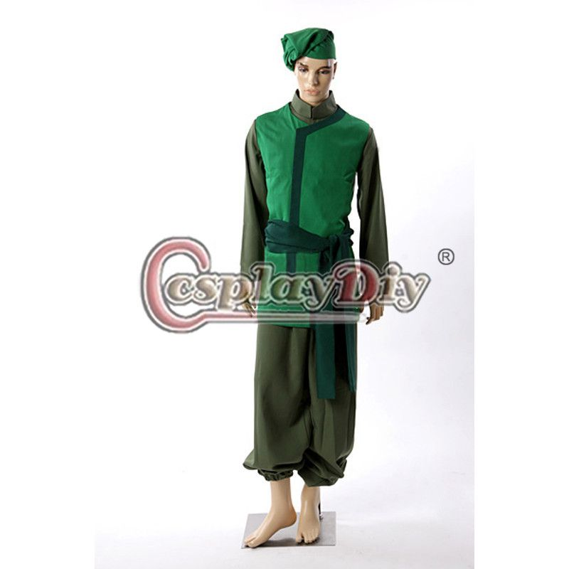 Cosplaydiy Avatar: The Last Airbender Cabbage Merchant Cosplay Costume Adult Men Carnival Halloween Costume Custom Made D0406