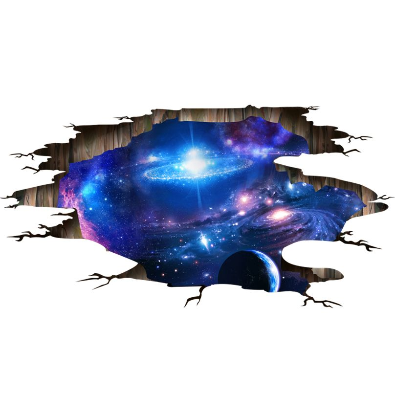 [SHIJUEHEZI] univers Galaxy 3D Stickers Muraux Vinyle BRICOLAGE Voie Lactée Stickers Muraux pour Enfants Chambres Toilettes Plancher Plafond Décoration
