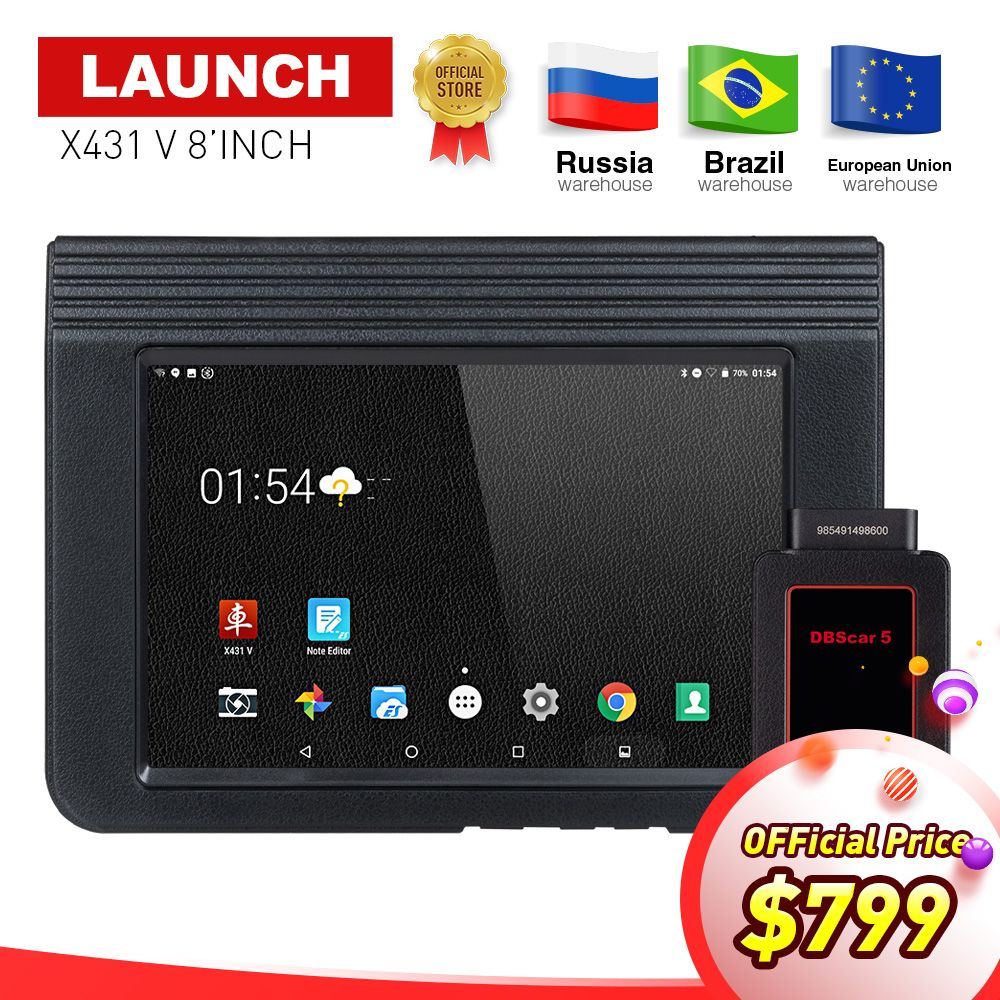 LAUNCH X431 V Bluetooth/Wifi OBD2 Full System Car Diagnostic Tool 8inch X-431 V X431 Pro Mini Auto Scanner with free Update