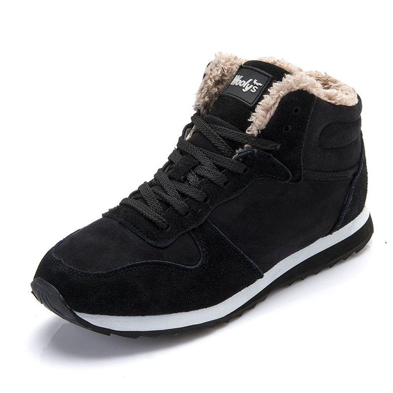 Мужская обувь теплые зимние мужские ботинки зимние сапоги мужские сапоги рабочая обувь из флока обувь зимние ботинки открытый мужской