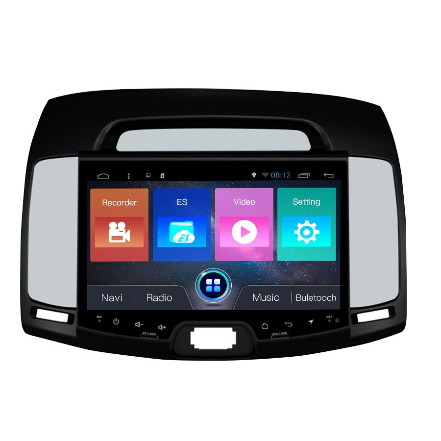 Navirider Android 7.1 autoradiokassettenrekorder quad Core 2 GB RAM 32 GB rom für Hyundai Elantra 2008-2011