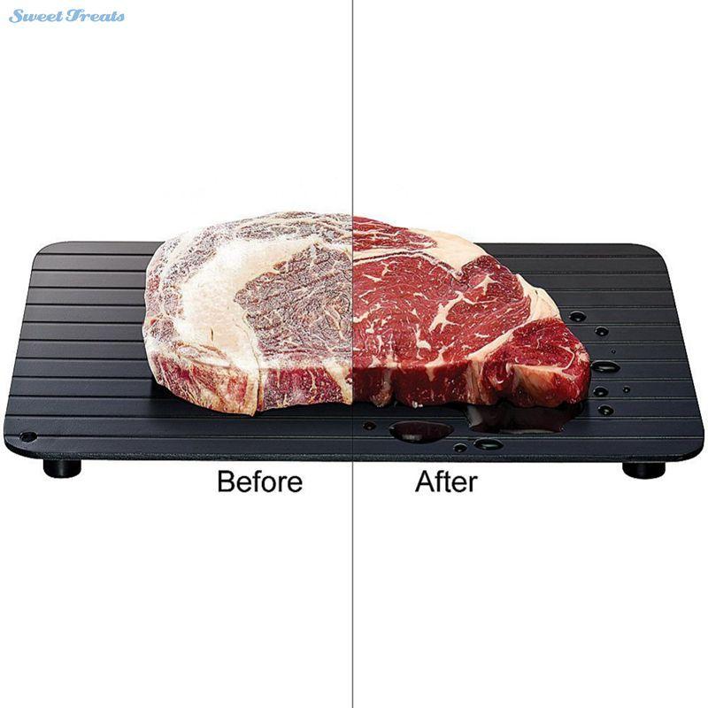 Sweettreats быстрое размораживание лоток-безопасный способ размораживать мясо или замороженные Еда быстро без электричества размораживайте Ед...