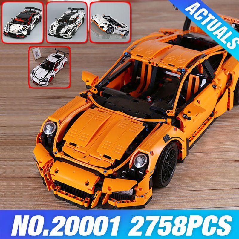 LEPIN 20001 Technic Series Race Car Model 20001B Building Kit Blocks Bricks set 42056 Educational 23002 MOC 4789 23006 DIY Gifts
