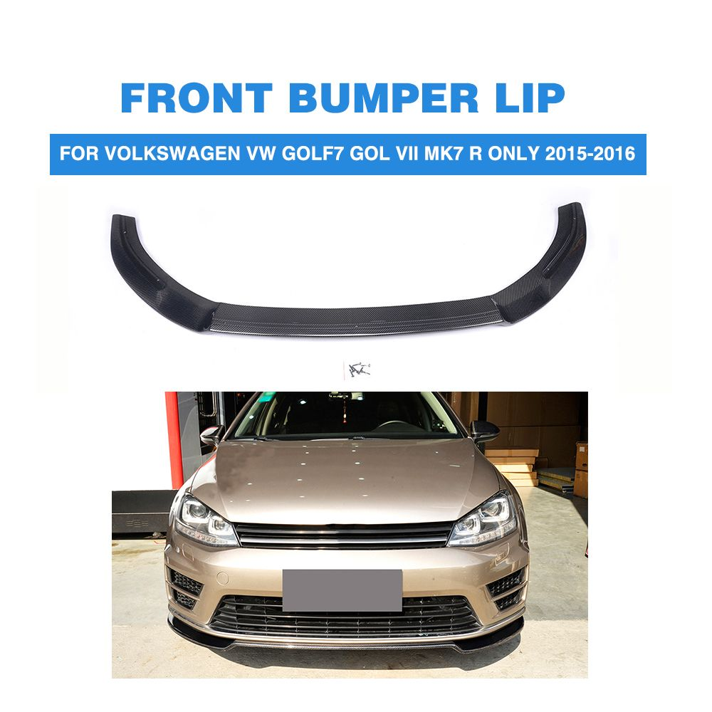 Carbon Fiber Front Bumper Lip Spoiler Chin For Volkswagen VW Golf 7 VII MK7 R Only 2015 2016 Car Tuning Parts