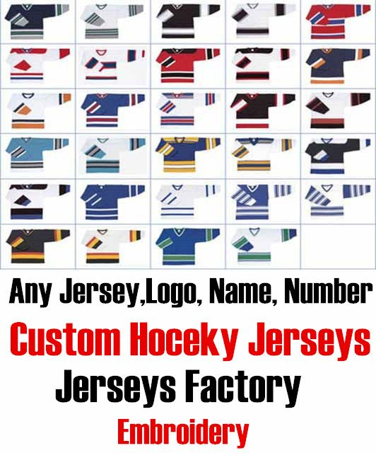 Custom Any Hockey Jerseys With Any Name, Number Replica Home Away Mens Woman Youth Embroidery Tackle twill fabric Jerseys