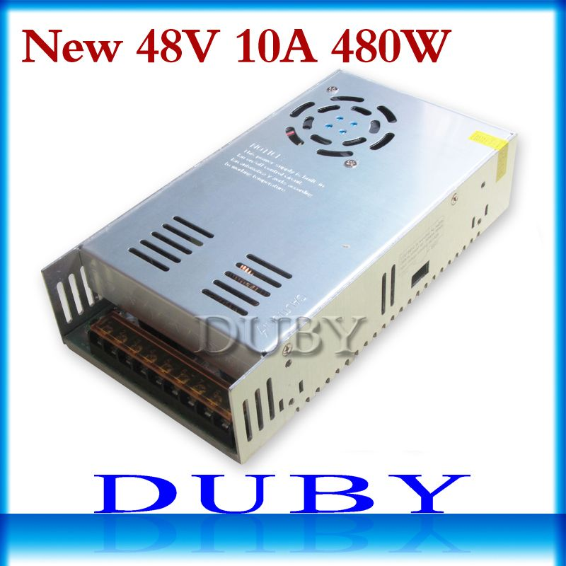 New model 48V 10A 480W Switching power supply Driver For LED Light Strip Display AC100-240V Factory Supplier Free shipping