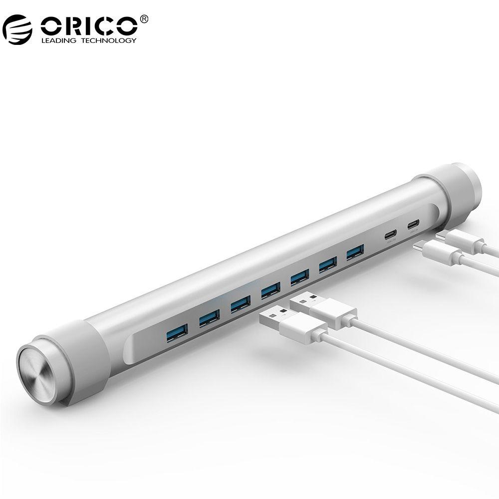 ORICO M7C2 USB 3.0 HUB Typ C PD USB HUB Typ C 7-port USB3.0 Hub, Laptop Stand