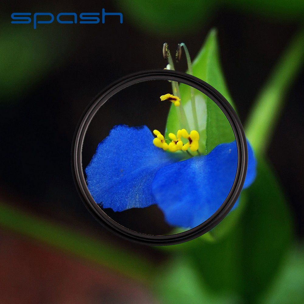 spash Macro Close-up +1 Glass Filter Professional Circular Lens Filter for Canon 600D 1200D EOS Rebel T6i T6 T5i T4i with Pouch